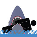 Shark icon color vector illustration art Stock Images