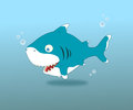 Shark an illustration of cute done by software Royalty Free Stock Photography