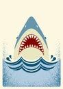 Shark Jaws.Vector Color Illust...