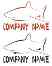 Shark logo and your company name Stock Photography