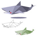 Shark low polygon Royalty Free Stock Photo