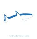 Shark minimal vector illustration