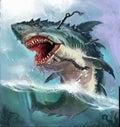 shark monster Royalty Free Stock Photo