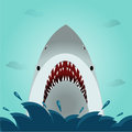 Shark open mouth in the ocean Royalty Free Stock Photos