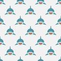 Shark seamless pattern. Royalty Free Stock Photo