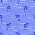 Shark Seamless Pattern Royalty Free Stock Photo