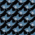 Shark seamless pattern. Many angry, ferocious marine animals. Ve Royalty Free Stock Photo