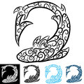 Shark Swirl Tattoo Royalty Free Stock Photo