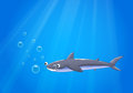 A shark under the sea illustration of Royalty Free Stock Images
