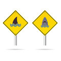 Shark yellow sign vector illustration Royalty Free Stock Photo
