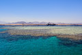 Sharm el sheikh coastline near and tiran island egypt Royalty Free Stock Photography