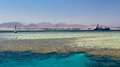 Sharm el sheikh coastline near and tiran island egypt Stock Photo