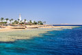 Sharm el sheikh egypt coast of as seen from the sea Stock Photo