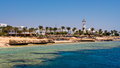 Sharm el sheikh egypt coast of as seen from the sea Stock Photos