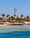 Sharm el sheikh egypt coast of as seen from the sea Stock Images