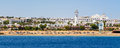 Sharm el sheikh egypt coast of as seen from the sea Royalty Free Stock Image