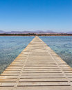 Sharm el sheikh egypt jetty on the red sea coastline at Stock Photo