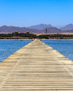 Sharm el sheikh egypt jetty on the red sea coastline at Royalty Free Stock Photos