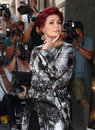 Sharon osbourne arriving for the x factor launch london picture by alexandra glen featureflash Royalty Free Stock Image
