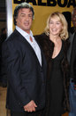 Sharon Stone, Sylvester Stallone Photo stock