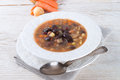 Sharp bean soup a fresh Royalty Free Stock Photography