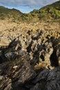 Sharp edge rocks Stock Photo