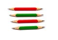 Sharp penclis close up of a pencils sharpened at both the ends Royalty Free Stock Photography