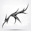 Sharp tribal tattoo vector illustration for saloons Stock Image