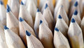 Sharpened pencil group wooden graphite pencils Royalty Free Stock Photos