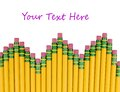 Sharpened pencils isolated Royalty Free Stock Photos
