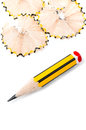 Sharpened small pencil Stock Photography
