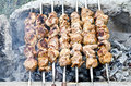 Shashlik beautiful food background shish kebab also also barbecue Royalty Free Stock Photography