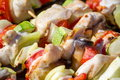 Shashlik detail Royalty Free Stock Photography