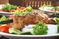Shashlik, kebab Royalty Free Stock Photo