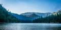 Shasta Lake after sunset Royalty Free Stock Photo