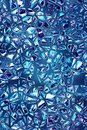 Shattered blue glass mosaic pattern texture fracture background design Royalty Free Stock Photo