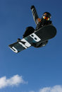 Shaun white in the sky pro snowboarder jumping during training Royalty Free Stock Photography
