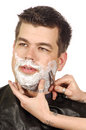 Shave at Salon Royalty Free Stock Photography
