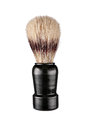Shaving brush studio photography of little isolated on white background Royalty Free Stock Photos