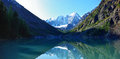 Shavlinskoe lake in summer lower altai Stock Photography