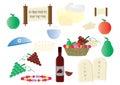 Shavuot Jewish Holiday cliparts