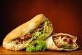 Shawarma and kebab Royalty Free Stock Photo