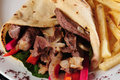 Shawarma plate. Royalty Free Stock Photo