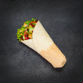 Shawarma Rolled Sandwich Royalty Free Stock Photo