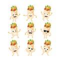 Shawarma - vector set of mascot illustrations.