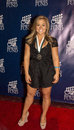 Shawn johnson usa olympic gold medalist in the gymnastics balance beam competition and darling of dancing with the stars arrives Royalty Free Stock Photo