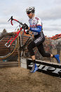 Shawn Mitchell  - Masters Cyclocross Racer Stock Images