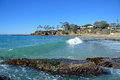 Shaws Cove, Laguna Beach, California. Royalty Free Stock Photo