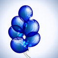 Sheaf  dark blue balloons Stock Photo