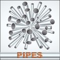 Sheaf of metal piles a vector illustration eps Royalty Free Stock Image